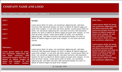Web Site Templates - Basic website templates